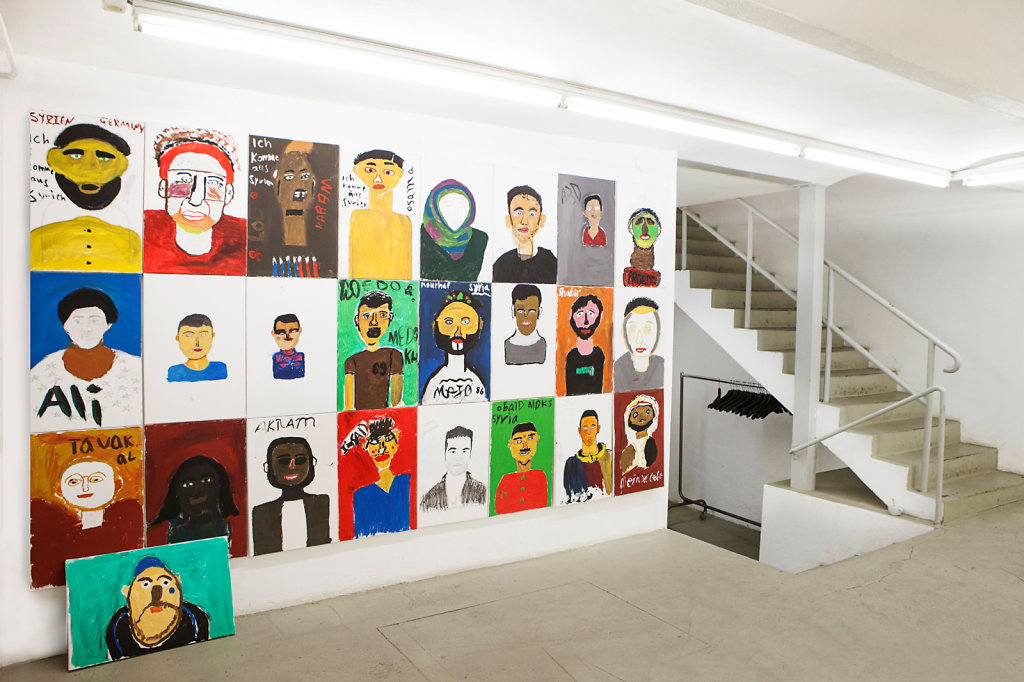 Selbstportraits (Workshop Refugees)